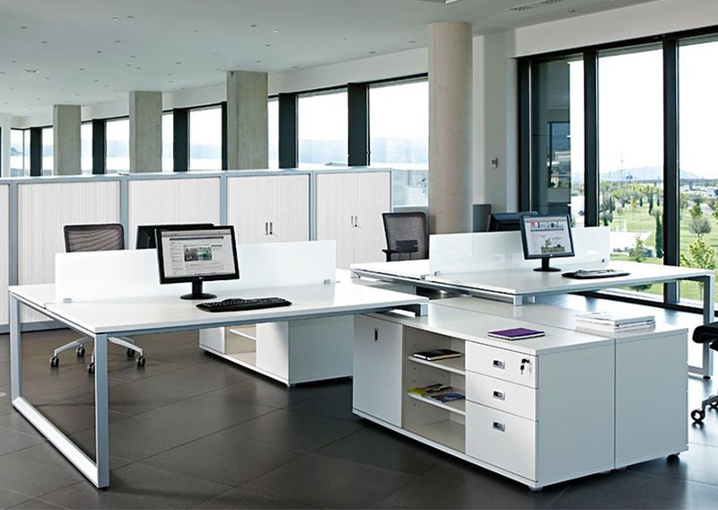 Stell Çoklu Etajerli Workstation